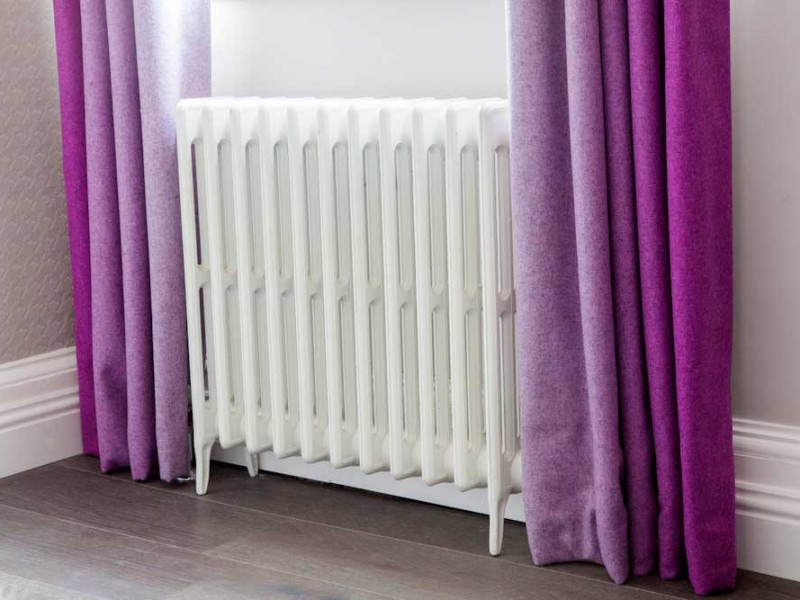 radiator and Curtains