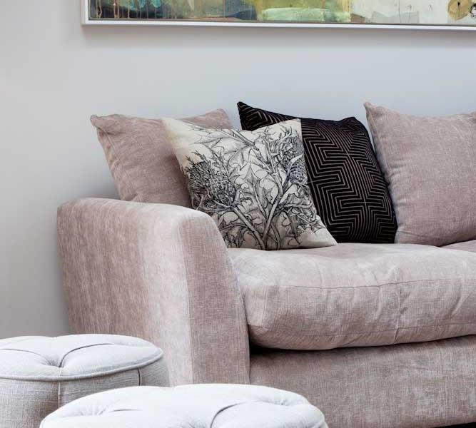 Light coloured sofa